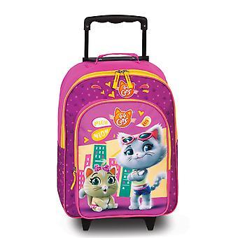 Fabrizio Kids 44 Cats Girls Kids Case 42 cm 2 Rolls, Pink