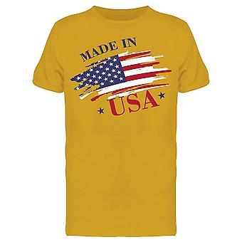 Hecho en Usa. Banner Tee Men's -Imagen por Shutterstock