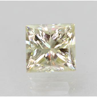 Certified 0.94 Carat K VVS2 Princess Enhanced Natural Diamond 5.25x5.07mm 2VG