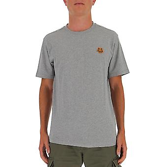 Kenzo Fa65ts0034sj94 Men's Grey Cotton T-shirt