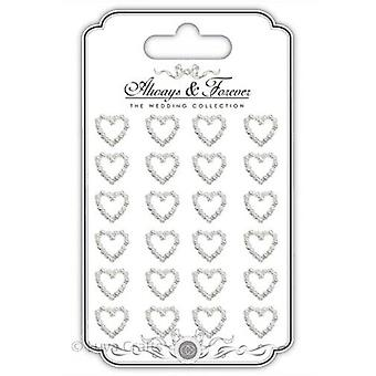 Craft Consortium Adhesive Pearl Hearts Chain