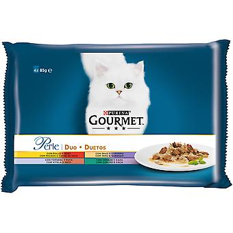 Gourmet Duo thin blades with delicate meat (Cats , Cat Food , Wet Food)