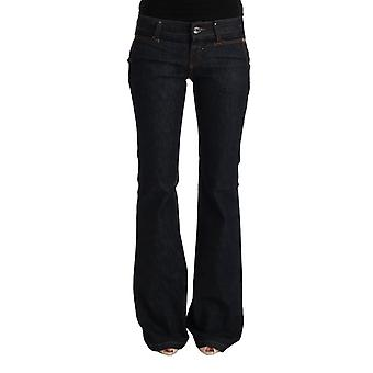 Costume National Dark Blue Cotton Bootcut Flared Jeans