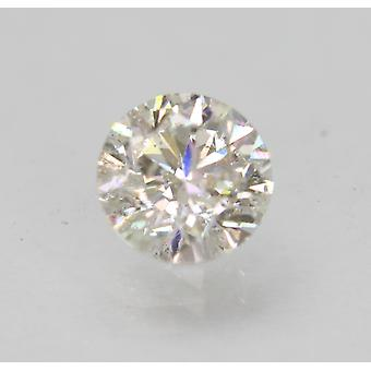 Certified 1.01 Carat H SI2 Round Brilliant Enhanced Natural Loose Diamond 6.29mm