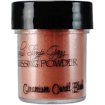 Lindy's Stamp Gang Geranium Coral Blush Embossing Powder
