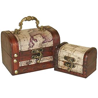 Something Different Map Chests (Set Of 2)