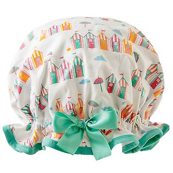 Dilly Daydream Beach Huts Shower Cap