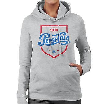 Pepsi Cola 1898 Shield logo vrouwen ' s Hooded Sweatshirt