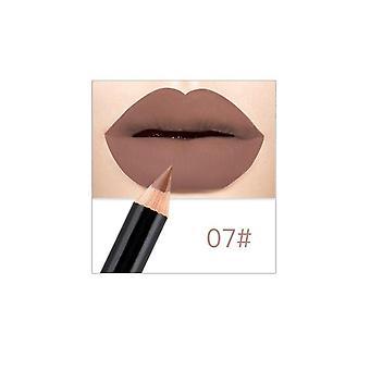 Leppeblyanter matt lipliner vanntett glatt fargerik silke naken leppestift penn langvarig pigmenter leppe makeup