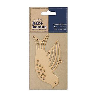 Papermania Paljaat perusteet Puiset muodot - Dove