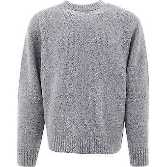 Acne Studios B60151mediumgreymelange Men's Grau wolle Pullover