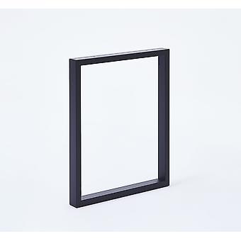Set U Tischbeine Möbelbeine (2 Stück) 71 cm (Breite 59 cm) Matt schwarz