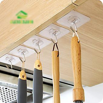Transparent And Strong Seamless Hooks, Kitchen Bathroom Wall Hanging Hooks