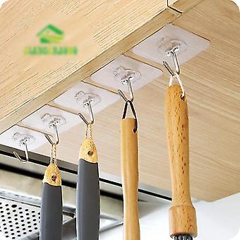 Crochets transparents et solides sans couture, crochets suspendus mur de salle de bains de cuisine