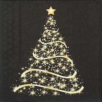Ambiente 3 Ply Paper Napkins, Shining Tree Black