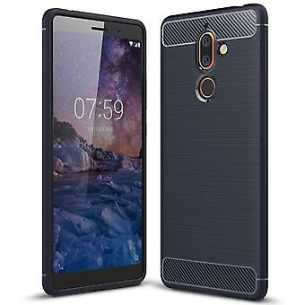 Soft Rubber Shell pour Nokia 7 Plus Matte Protection Mobile Shell Armor Mobile Shockproof TPU
