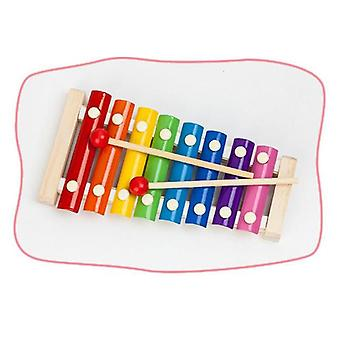Colorful Children's Musical Instruments Cute Kid Baby Xylophone Educational Developmental Wooden Toys (multicolor)