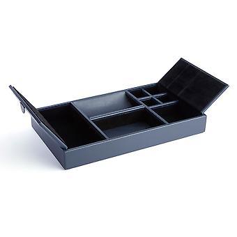 Executive Desk Organizer Tray - Navy Blue