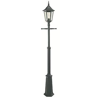 1 Light Outdoor Post Signal Lantern Black IP54, E27