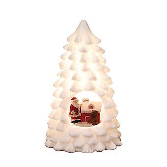 Straits LED Xmas White Tree, Santa