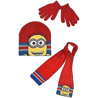 Minions boys hat scarf and gloves set (bob)