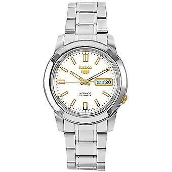 Seiko 5 Gent Watch SNKK07K1 - Stainless Steel Gents Automatic Analogue