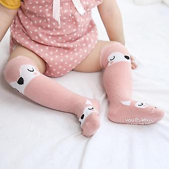 Cute Baby Girls Tiny Newborn Knitted Cotton Blend Knee Cartoon Sock