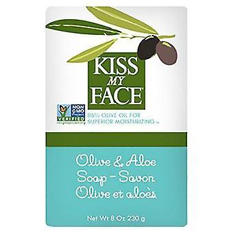 Kiss My Face Bar Soap Olive & Aloe, 8 Oz
