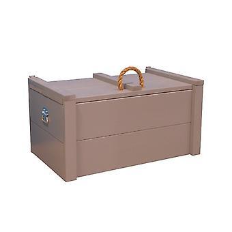 Wood4you - Spielzeug Box Armee grau Gerüst 80Lx44Hx50D cm