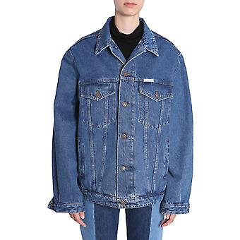 Forte Couture Fcfw1808 Women's Blue Cotton Outerwear Jacket