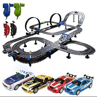 Kids Car Railroad Lights Large Electric Remote Control Railway Toy, Train With