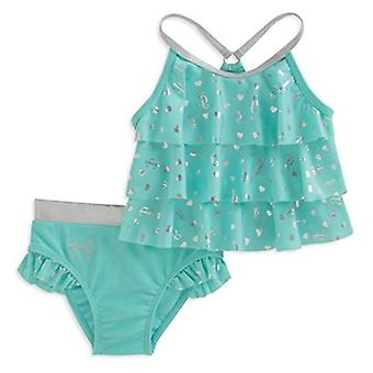 Juicy Couture Baby Girls 2 Pieces Swimsuit, Green, 12M