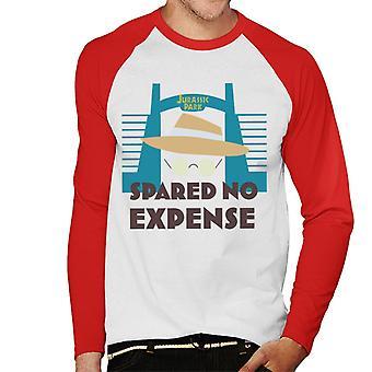 Jurassic Park ei säästellyt kuluja John Hammond Men's Baseball Pitkähihainen T-paita