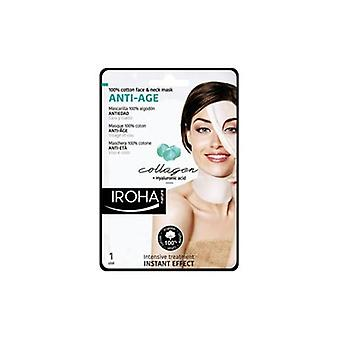 Iroha Nature Collagen & Hyaluronic Anti Age Face & Neck Mask