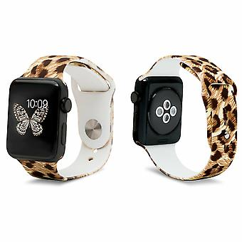 iWatch Silicone Sports Strap con Cheetah 42mm Impresión