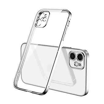 PUGB iPhone XS Max Case Luxe Frame Bumper - Case Cover Silicone TPU Anti-Shock Silver