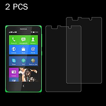 2 PCS voor Nokia XL 0,26 mm 9H+ Surface Hardness 2.5D Explosiebestendige tempered glass film