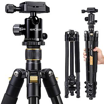 "Camera tripod,k&f concept 62"" compact light aluminium tripod with quick release plate, ball head and"