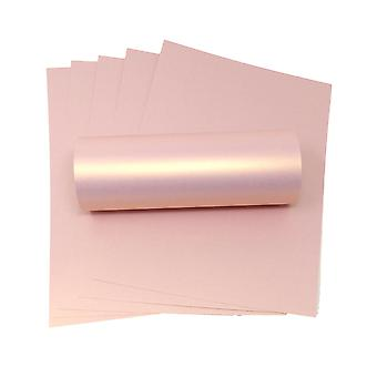 10 ark med A4 rose gull pearlescent kort 300gsm