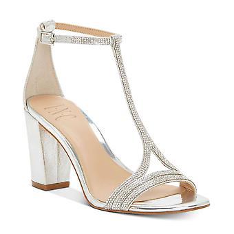 INC International Concepts Womens Keyla Fabric Open Toe Ankle Strap Classic P...