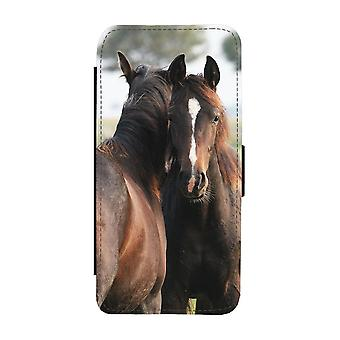 Brown Horses iPhone 12 / iPhone 12 Pro Wallet Case
