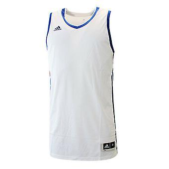 Adidas Temel Kit 3.0 Beyaz Mavi Polyester Erkek Kolsuz Jersey AI4664 RW12