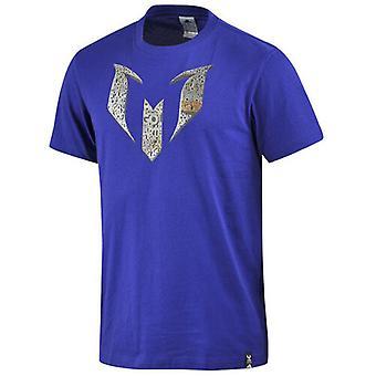 Adidas ytelse Lionel Messi tee t-skjorte topp menns lilla G92214 A6E