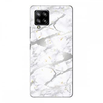 Samsung Galaxy A42 5g Silicone morbido 1 mm, effetto marmo grigio