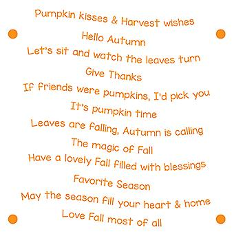 LDRS Creative Harvest Wishes Sentiment Stack Clear Stamps