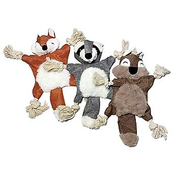 Dog Plush Toy Squirrel Fox Shape With Ringing Paper Pet Supplies