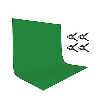 Utebit 2mx3m/7ftx10ft zelená obrazovka s fotografickými svorkami 4 balení fotostudio skládací polyester