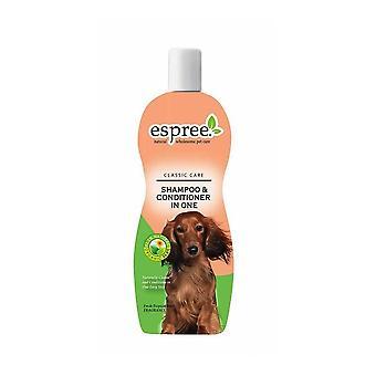 Espree nestemäinen koiran shampoo & hoitoaine