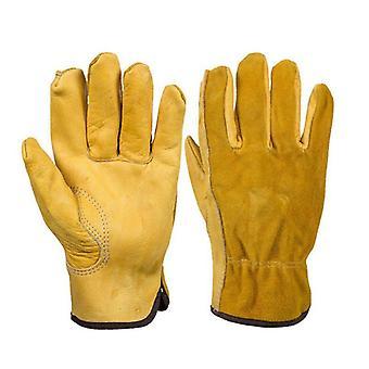 Heavy Duty Gardening Gloves, Thorn Proof, Leather Work Glove, Waterproof