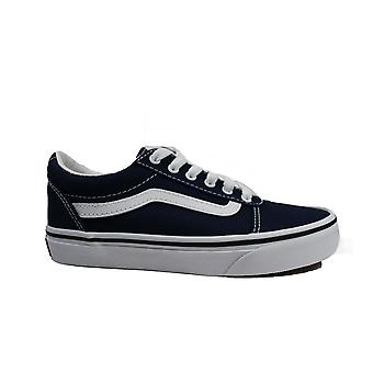 Vans YT Ward Dress Blue/White Canvas Youth Lace Up Sneakers
